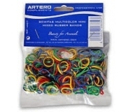 Artero Hair Bands Assorted Extra Strong - много здрави ластици за козина 200 броя