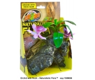 Zoo-Med - Naturalistic Flora™ Orchid with rock 20см, - с мъх, с тежка основа
