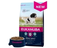 Eukanuba Dog Adult Chicken Medium Breed - за кучета от средни породи + 3 кг. ГРАТИС!