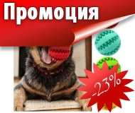 Dog Treat Feeder & Teeth Cleaning Ball - дентална играчка за кучета 7,6 см.